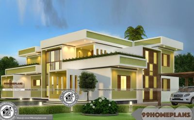 Square House Design Plans Double Floor Modern Box Type Home Models