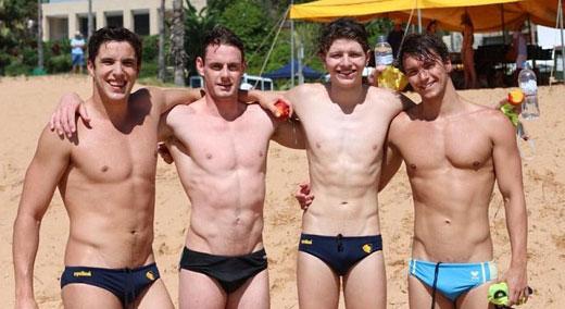 Beach Speedo Boys