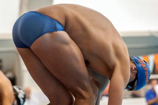 Blue Speedo Bum