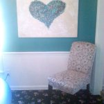 """Pieces of my heart"" 30X40"" shown in the Hughes residence"