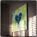 """Scar Tissue"" 30X40"" shown in Tonya's Orlando home"