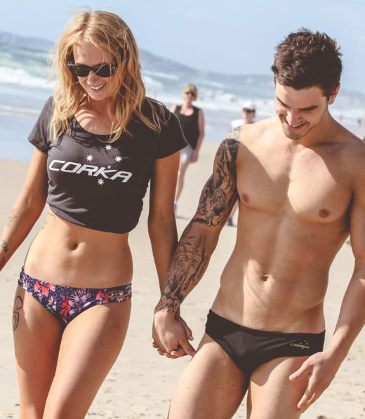 Guy in Speedos with Girl