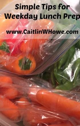 Weekday Lunch Preparation Veggies