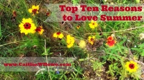 Top Ten Reasons To Love Summer Diagram