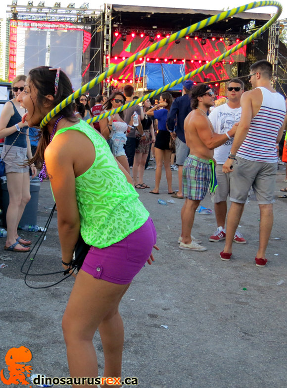 Digital Dreams, Toronto, Canada Day 2012, Canadian Chick, Raver, Sexy hola hoop