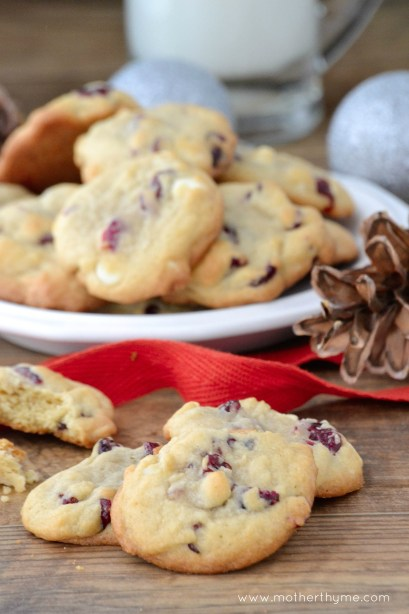 Cranberry-Orange White Chocolate Chip Cookies