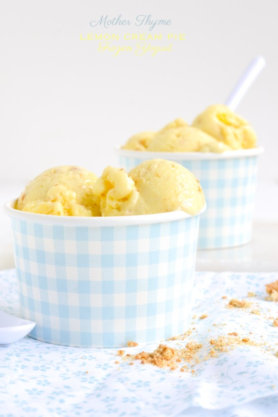 Lemon Cream Pie Frozen Yogurt | Mother Thyme