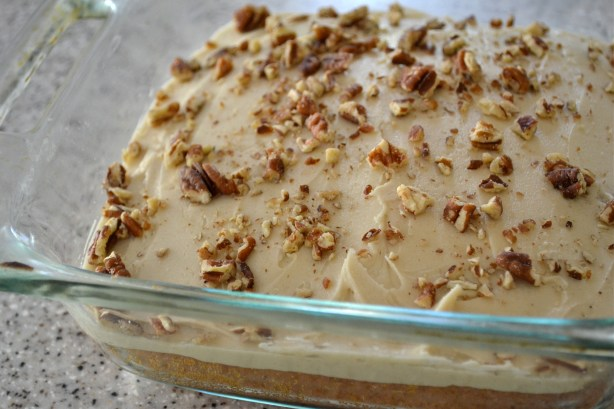 Pumpkin Cake with Butter Pecan Frosting - Mother Thyme