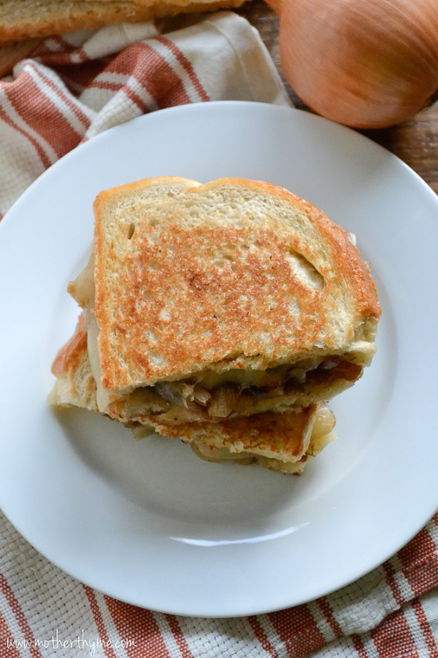 French Onion Grilled Cheese | www.motherthyme.com