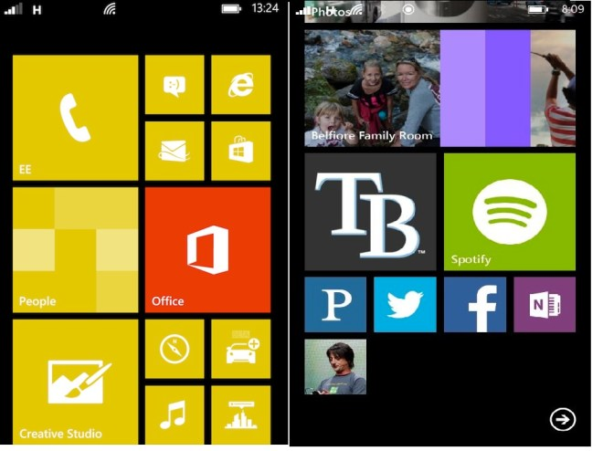 WP8 vs Blue