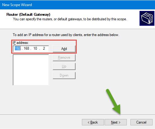 Router (Default Gateway)