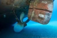 Underwater prop of Ana Cecilia wreck