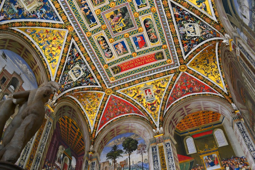 inside the Siena Cathedral, Italy