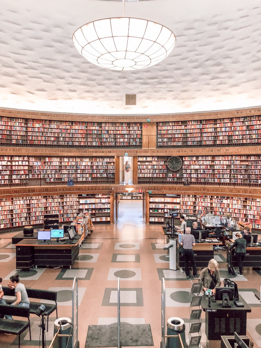 Most instagrammable places in Stockholm- public library