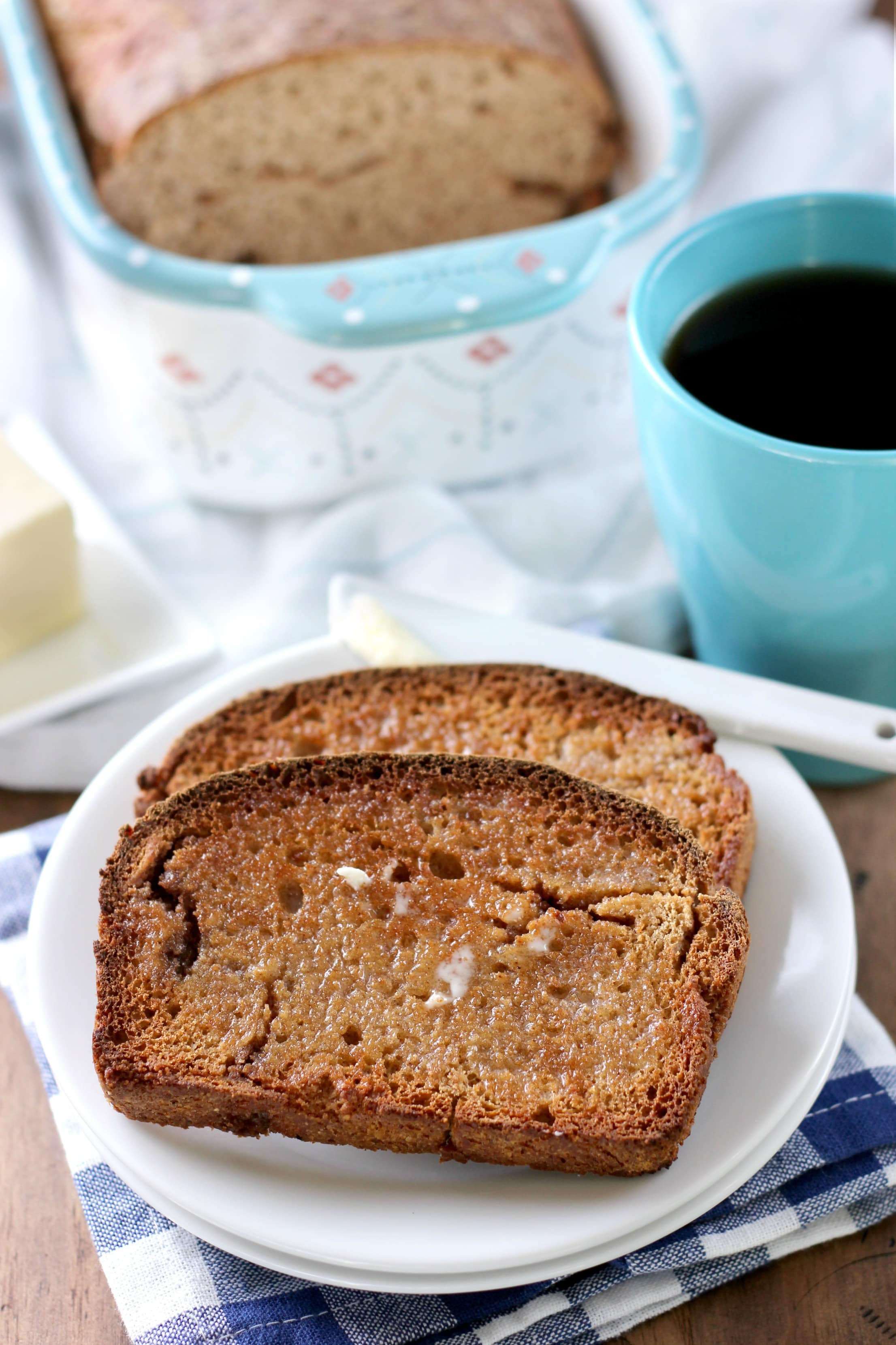 Cool French Toast English Muffin Bread Recipe From A Kitchen Addiction French Toast English Muffin Bread A Kitchen Addiction Banana Bread French Toast Vegan Banana Bread French Toast Toronto nice food Banana Bread French Toast