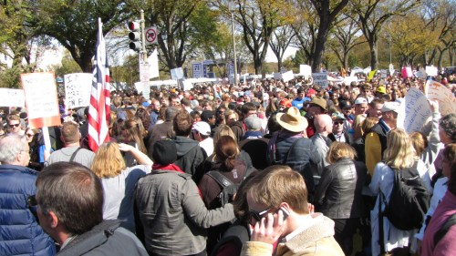 Joe Jervis photo of rally.