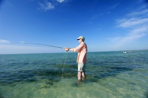 Fly fishing at Casuarina Point