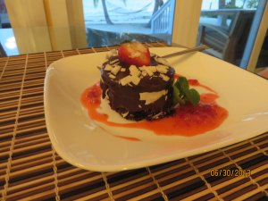 Decadent Chocolate Cake for dessert!