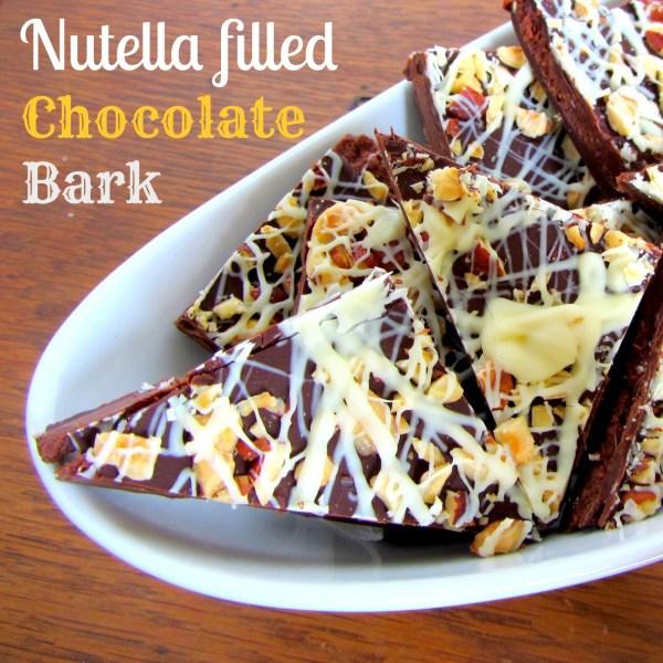 Nutella Filled Chocolate Bark | A baJillian Recipes