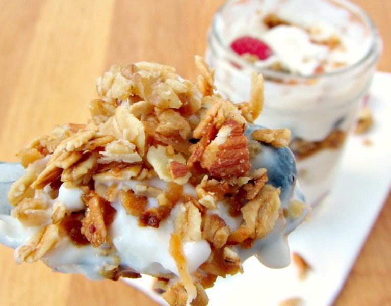 No-Stir Honey Almond Granola   A baJillian Recipes