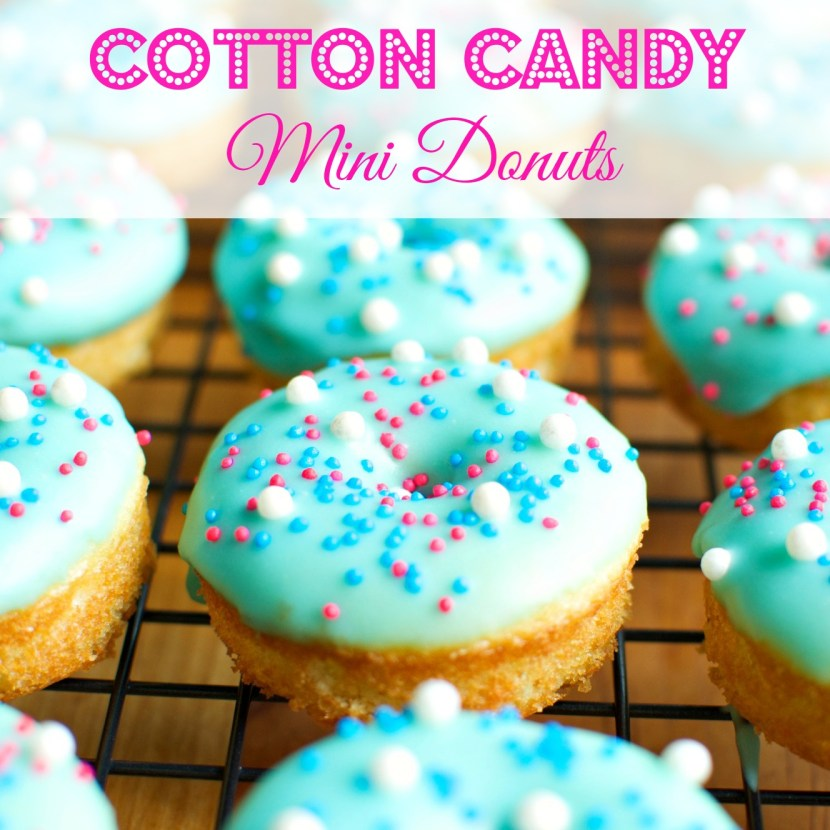 Cotton Candy Mini Donuts | A baJillian Recipes