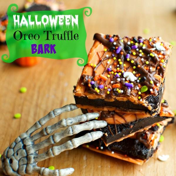 Halloween Oreo Truffle Bark | A baJillian Recipes