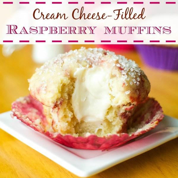 Cream Cheese-Filled Raspberry Muffins | A baJillian Recipes