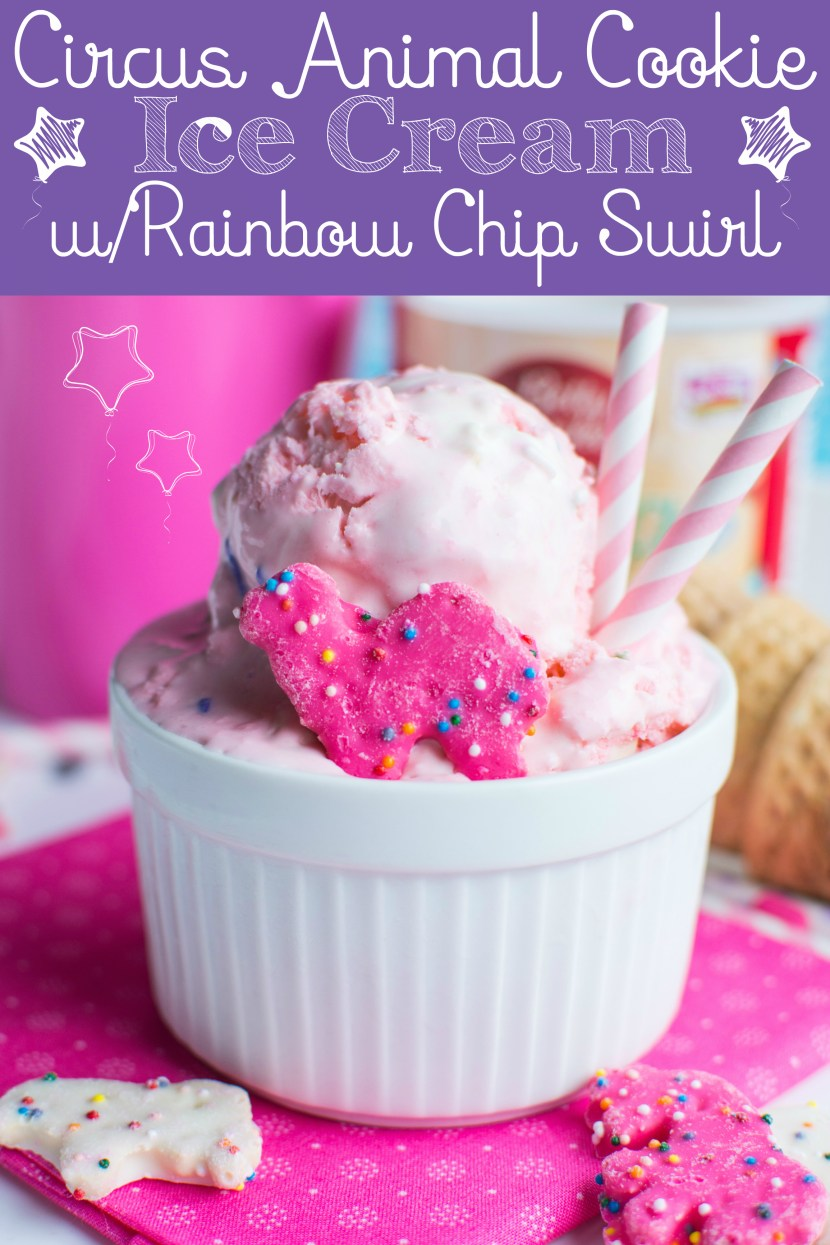 Circus Animal Cookie Ice Cream| A baJillian Recipes