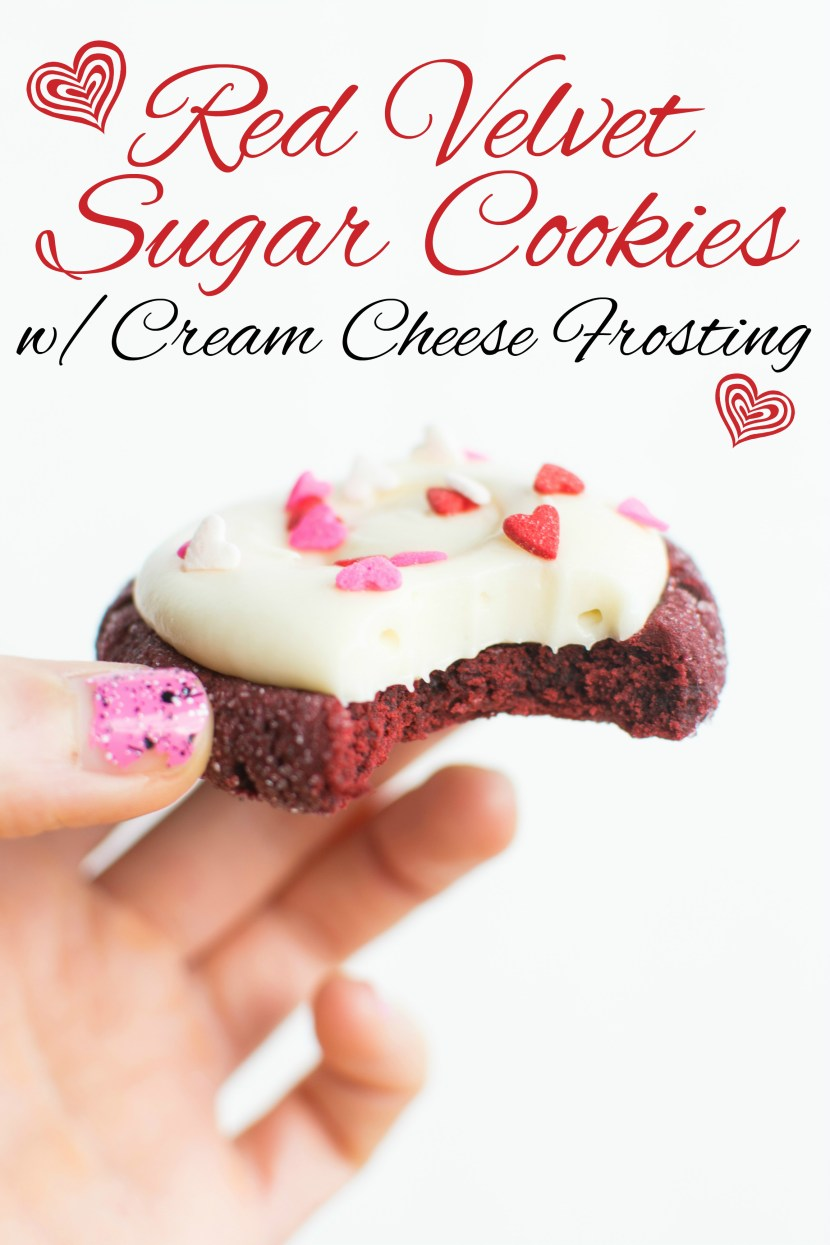 Red Velvet Sugar Cookies w/Cream Cheese Frosting | A baJillian Recipes