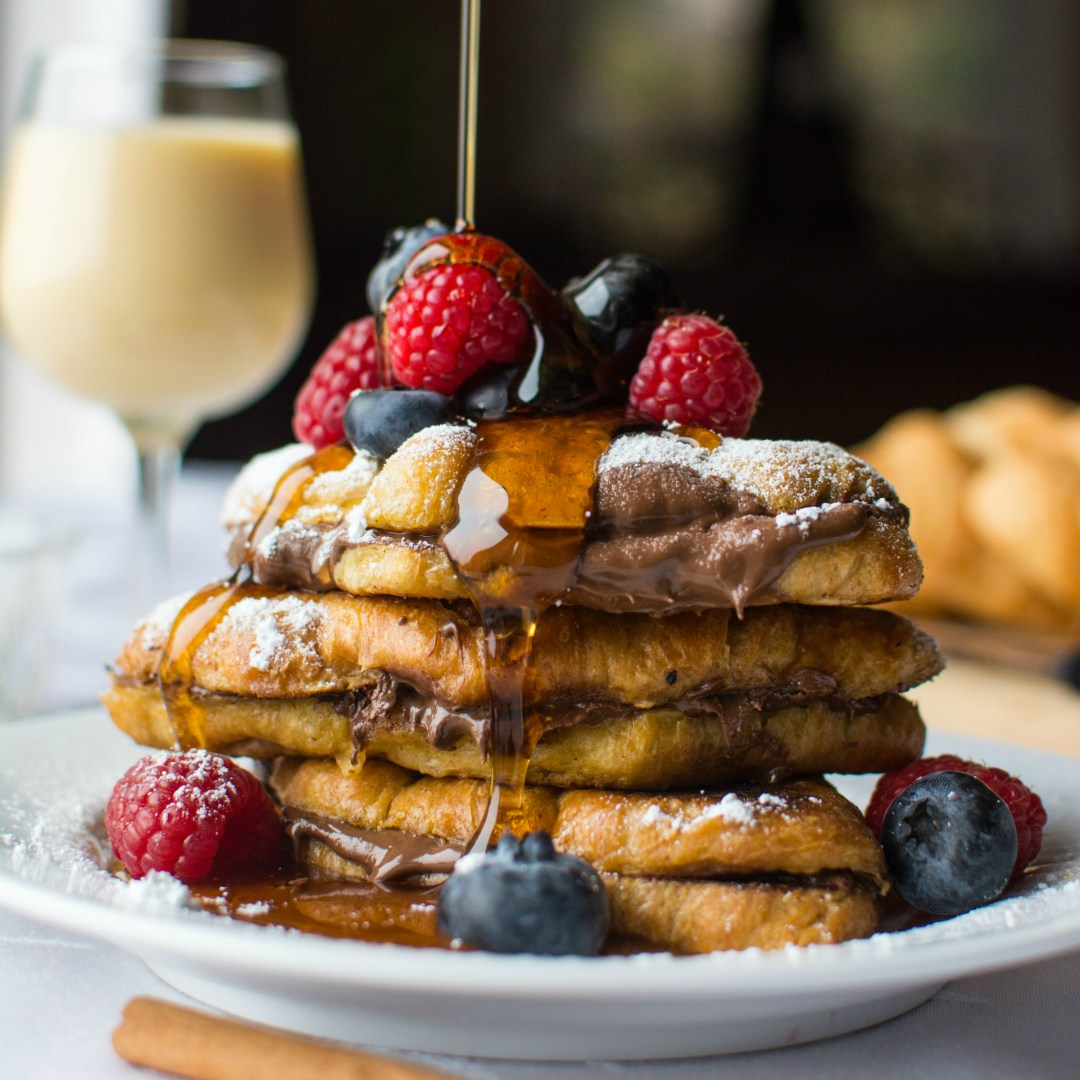 Nutella-Stuffed Eggnog French Toast - A baJillian Recipes
