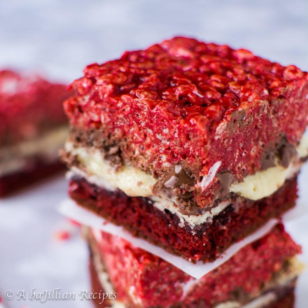 Triple the red velvet and triple the temptation in these Red Velvet Overload Bars!