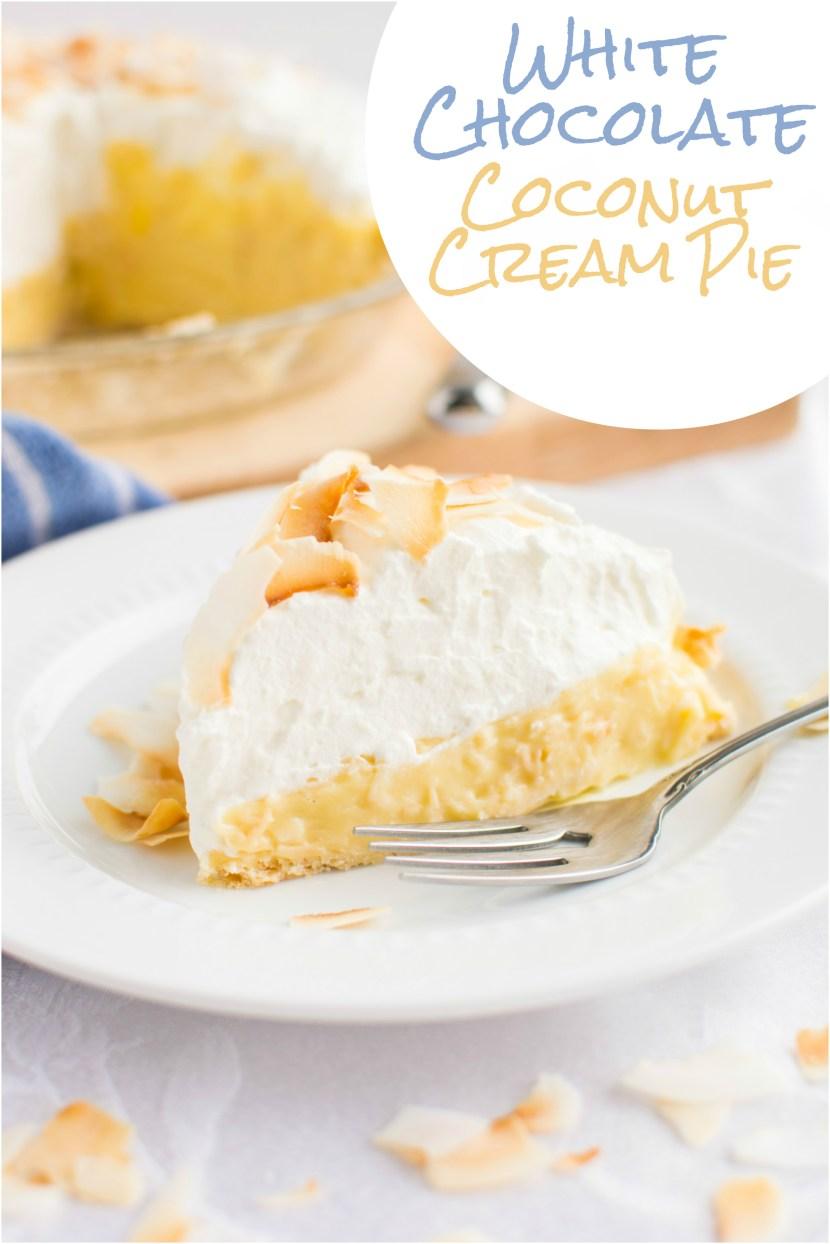 White Chocolate Coconut Cream Pie | A baJillian Recipes-8(title)