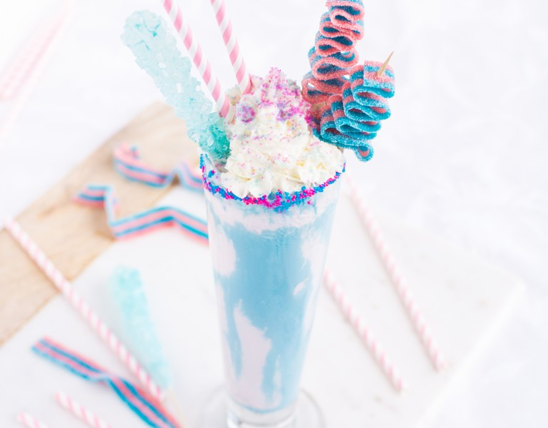 A carnival classic transformed into a sugary sweet and creamy milkshake!