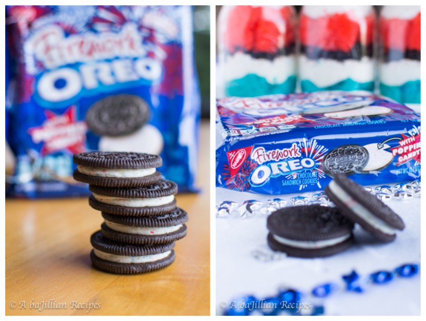 Red, White, & Blue Oreo Mini Trifles | A baJillian Recipes2