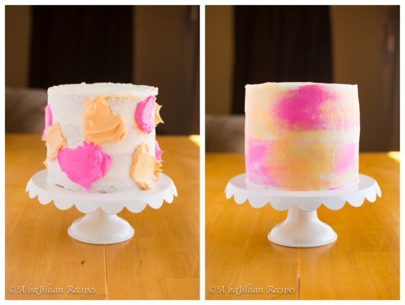 Peach Watercolor Cake | A baJillian Recipes