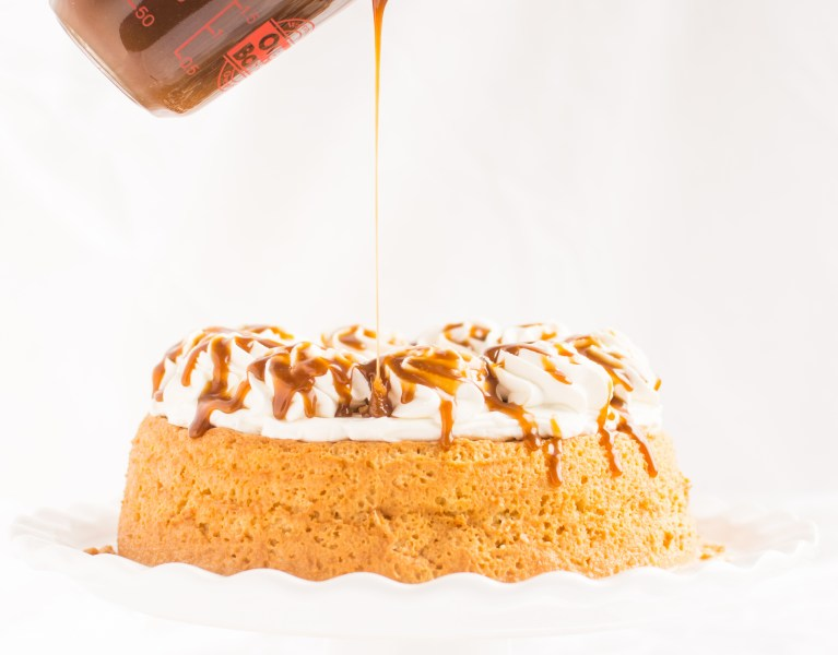 Tres Leches Cake gets a buttery new makeover with the luscious addition of homemade toffee sauce!