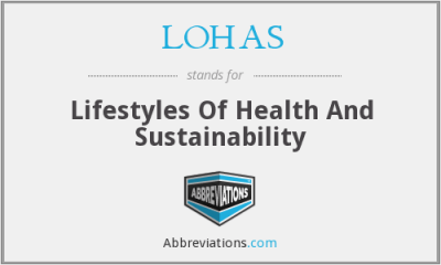 LOHAS - Lifestyles Of Health And Sustainability
