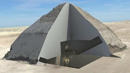 Interior de la pirámide explorada