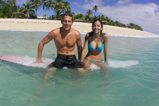 Andy Irons with wife Lyndie