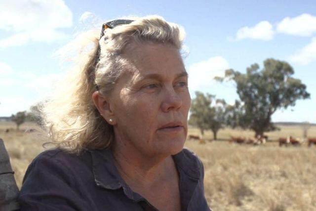 Fiona Simpson on her cattle property near Tamworth