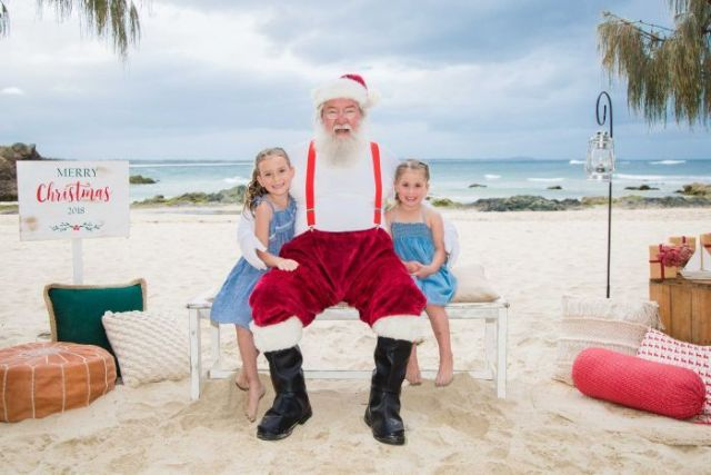 Santa on the Beach photo, Port Maquarie.