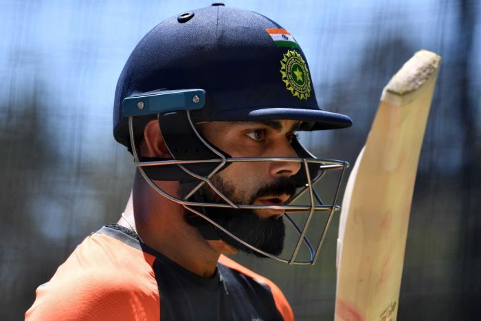 Virat Kohli in the Adelaide Oval nets