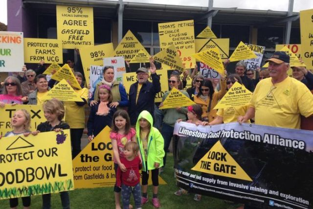 Fracking protest at Mount Gambier