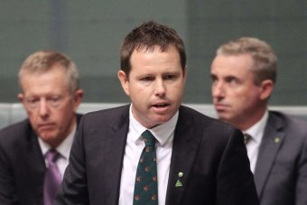 Nationals MP Andrew Broad speaks to the Parliament.