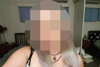 A blurred photo of an alleged rape victim