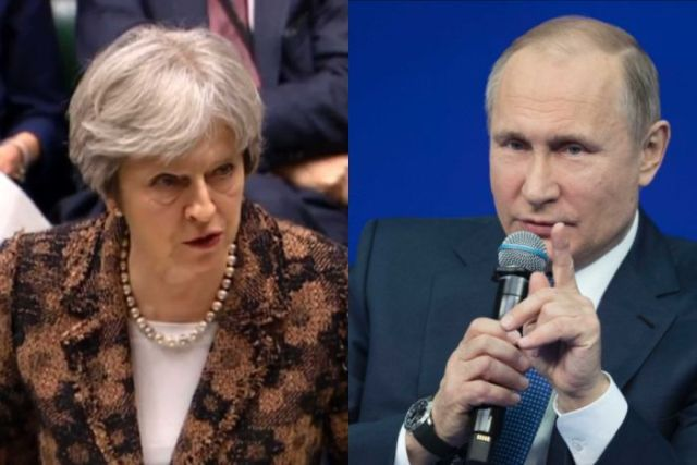 Vladimir Putin and Theresa May