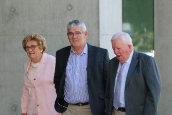 Members of the Wagner family arrive at the Supreme Court in Brisbane