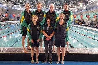 Finswimming team for Master's World Cup in Spain