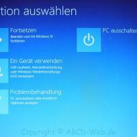 Bei Windows 10 einen unsignierten Treiber installieren, Treibersignatur deaktivieren