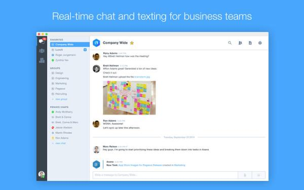 Hall, Group Text and Instant Message for Companies